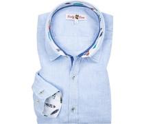 Hemd, Leinen, hellblau