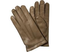 Handschuhe Leder caramel