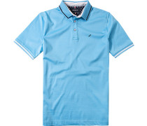 Herren Polo-Shirt Polo Baumwoll-Jersey türkis blau