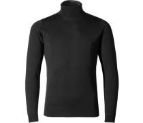 Herren Pullover Slim Fit Merino Extrafine schwarz
