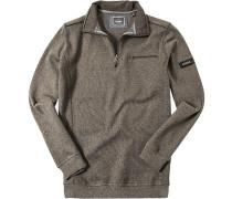 Pullover Troyer Baumwolle -grau meliert