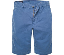 Bermudashorts, Baumwolle, jeansblau