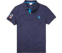 Polo-Shirt Polo Baumwolle-Piqué marineblau