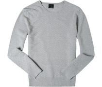 Pullover, Wolle, hellgrau meliert