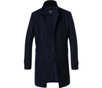 Mantel Wolle nachtblau