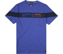 T-Shirt Baumwolle royalblau