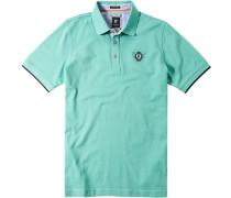 Herren Polo-Shirt Polo-Short Baumwoll-Piqué mintgrün