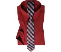 Herren Hemd mit Krawatte rot
