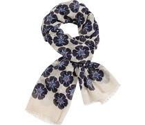 Schal Baumwolle -dunkelblau gemustert