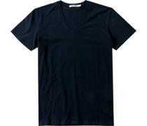 T-Shirt Regular Fit Baumwolle navy