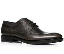 Schuhe Budapester Leder graubraun