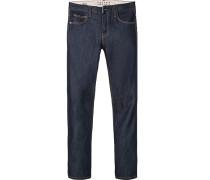 Jeans Slim Fit Baumwolle dunkelblau