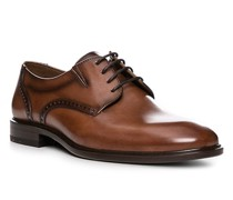 Schuhe Derby Koog, Kalbleder, cognac