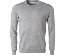 Pullover Schurwolle-Seide meliert