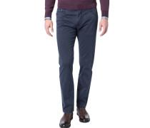 Jeans Regular Fit Baumwoll-Stretch marineblau