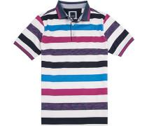 Polo-Shirt Polo Modern Fit Baumwoll-Jersey doppelt mercerisiert gestreift