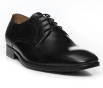 Herren Schnürschuhe Leder schwarz schwarz,braun