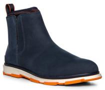 Schuhe Chelsea Boots Nubukleder wasserabweisend navy