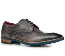 Schuhe Derby, Leder, grigio