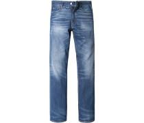 Herren Jeanshose Regular Fit Baumwolle blau