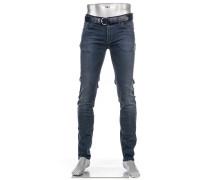 Jeans Dual FX Slim Fit Baumwolle T400® blau