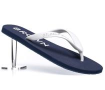 Herren Schuhe Zehensandale Gummi blau-weiß