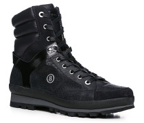 Herren Schuhe Boot Kalbleder warm gefüttert schwarz schwarz,schwarz