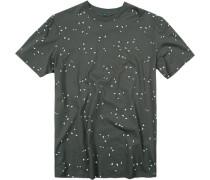 T-Shirt, Baumwolle, dunkelgrau gemustert