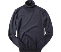 Pullover Slim Fit Merinowolle dunkelblau