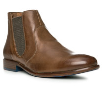 Schuhe FRANCIS, Kalbleder, mittelbraun