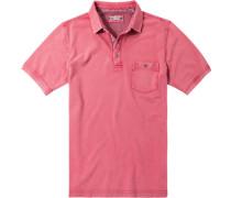 Herren Polo-Shirt Polo Baumwoll-Piqué koralle rot