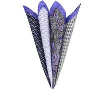 Accessoires Einstecktuch Seide violett gemustert