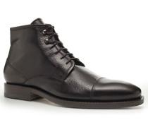 Schuhe Schnürstiefeletten Kalbleder dunkelbraun