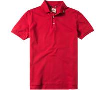 Polo-Shirt Polo Baumwolle tomatenrot