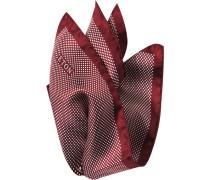 Herren Accessoires  Einstecktuch Seide bordeaux-weiß gepunktet rot