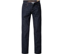 Jeans Straight Fit Baumwoll-Stretch indigo