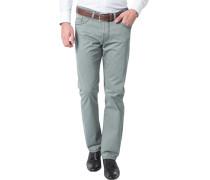 Herren Blue-Jeans Regular Fit Baumwoll-Stretch graugrün