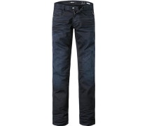 Jeans Slim Fit Baumwoll-Stretch nachtblau