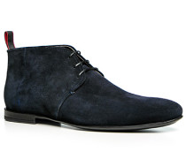 Herren Schuhe Desert Boot Veloursleder nachtblau blau,grau