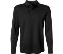 Herren Polo-Shirt Polo Baumwoll-Jesey schwarz