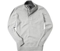 Pullover Toyer Baumwolle silbergrau-ecru meliert