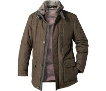 Jacke Regular Fit Microfaser wattiert olivgrün