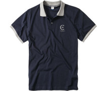 Polo-Shirt Polo Baumwoll-Jersey marineblau