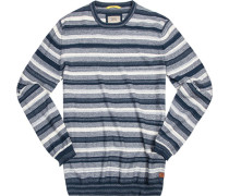 Pullover Baumwolle -wollweiß gestreift