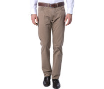 Herren Jeans Regular Fit Baumwoll-Stretch camel braun