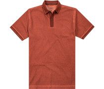 Polo-Shirt Polo Baumwoll-Piqué rotorange