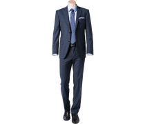 Anzug Regular Fit Schurwolle dunkelblau