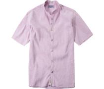 Herren Hemd Modern Fit Strukturgewebe rosé-weiß gestreift rosa