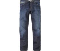 Blue-Jeans Regular Fit Baumwoll-Stretch navy grey