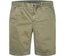 Hose Bermudashorts Regular Fit Baumwolle khaki